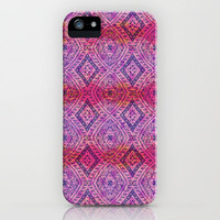 Purple Maze iPhone Case by Janet Broxon | Society6
