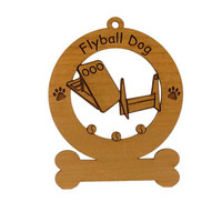 Flyball Dog Personalized Wood Dog Sport Ornament