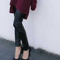 Haute In Here Faux Leather Leggings