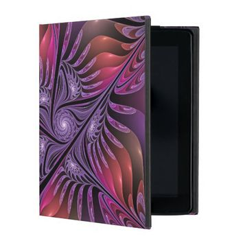 Colorful Fantasy, Abstract Fractal Art iPad Covers