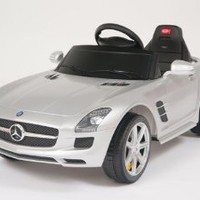 Official Licensed Mercedes SLS AMG Ride on Toy Battery Operated Car With Remote Control , Key, MP3 CONNECTION and Light UNIC COLOR SILVER