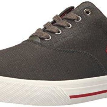 Polo Ralph Lauren Men's Vaughn Ripstop Fashion Sneaker, Deep Olive, 10 D US