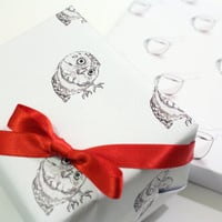 Printable wrapping paper  -  Owl wrap Instant Download