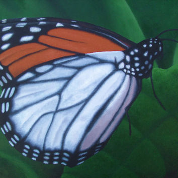 Monarch - Poster of Butterfly Acrylic Paint Fine Art