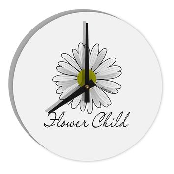 "Pretty Daisy - Flower Child 8"" Round Wall Clock"