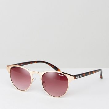 Miss KG Round Sunglasses With Peach Frame at asos.com