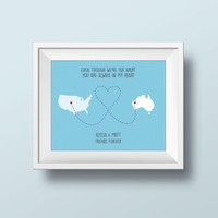 Instant Print, long distance love, relationship, valentine romantic, download custom image, wall art, instant print, miles apart, world map