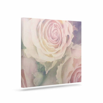 """Suzanne Carter """"Faded Beauty"""" Blush Floral Canvas Art"""