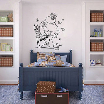 Wall Mural Vinyl Sticker Decal  crab pants money DA1185