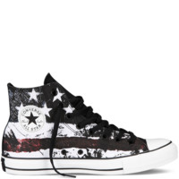 Converse - Chuck Taylor All Star Flag - Hi - White/Chili Pepper