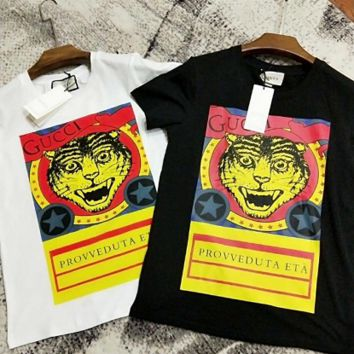 ''Gucci'' The tiger Hot letters print T-shirt top