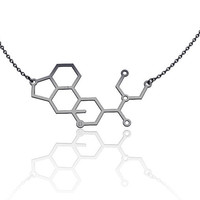 Lsd necklace -14K gold Fill , chemistry jewelry, chemistry necklace, molecule necklace