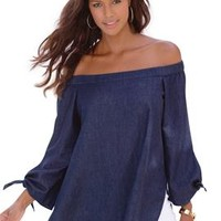 Off-the-Shoulder Tunic by Denim 24/7®
