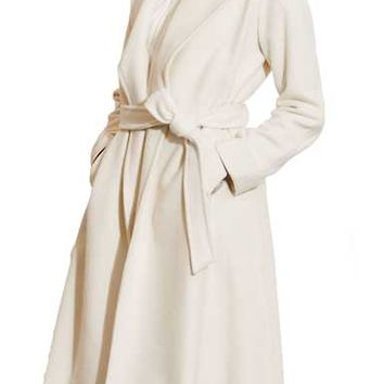 Wool blend wrap coat Lauren | Nordstrom