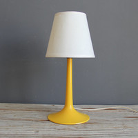 Mod Yellow Tulip Base Lamp by GallivantingGirls on Etsy