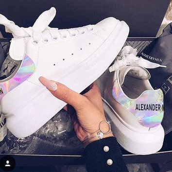 Alexander McQueen Laser Shoes Fashionable casual shoes For Girl B-CSXY