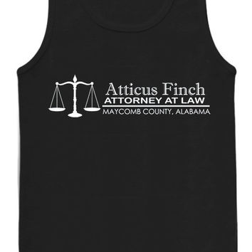Atticus Finch Attorney at Law tank top for womens and mens