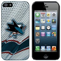 San Jose Sharks iPhone 5 Away Jersey Snap-On Case - White
