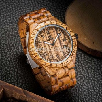 Eco-Friendly Red Sandal Wood Watch