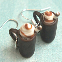 caramel macchiato coffee earrings