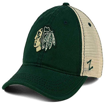 Chicago Blackhawks Zephyr NHL Green St. Patrick's Day Summertime Adult Hat (One Size)