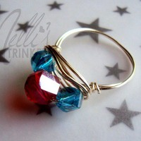 Melli's Trinkets | Red and Blue Ring  | Online Store Powered by Storenvy