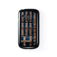 Vintage Flags - Wooden Greece Flag - Flag of Greece Black Hard Plastic Case for Samsung Galaxy S3 Mini by World Flags