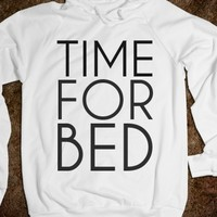 Supermarket: Time For Bed Hoodie from Glamfoxx Shirts
