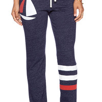 SUNDRY Boat & Stripes Classic Sweatpant in Navy