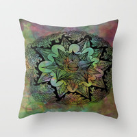 Tie-Dye Throw Pillow by LMMM | Society6