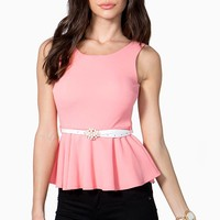 Lux Belted Peplum