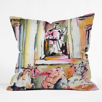 Ginette Fine Art Trevi Fountain Rome Italy 2 Throw Pillow