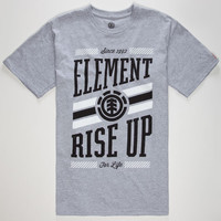 Element Clique Mens T-Shirt Heather Grey  In Sizes