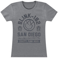 Blink 182 Women's  Barb Girls Jr Heather