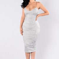 To The Point Dress - Silver