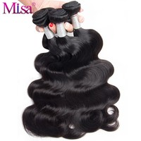 """Mi Lisa Peruvian Body Wave Can Buy 3 or 4 Bundles 100 Human Hair Weave Extensions Remy Hair Natural Color 10""""-28"""" Free Shipping"""