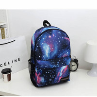 Galaxy-Print Nylon Backpack