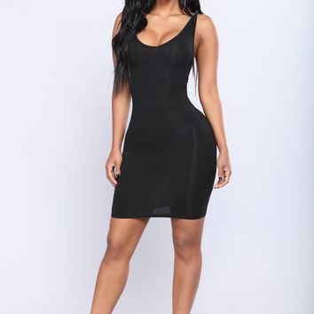 Keep It Casual Mini Dress - Black