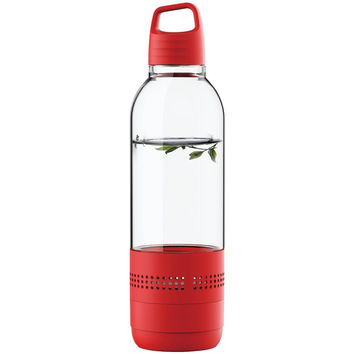 Sylvania Water Bottle With Integrated Bluetooth Speaker (red)