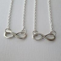 2 Infinity, Best Friends Necklaces in Silver