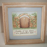 A Garden Of Love Blooms In A Grandmothers Heart Framed Picture Wall Art Grandparents Day Country Cottage