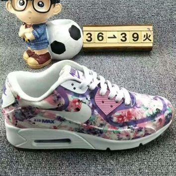 Nike Air Max Sakura Low Tops Shoes Force Sports Shoes Purple Floral Print