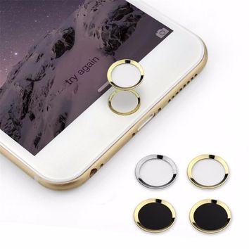 Aluminum Touch ID Home Button Sticker for iPhone 7 6 6s Plus 5s SE with Fingerprint Identification Function