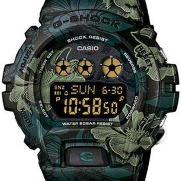 Casio Womens G-Shock S Series - Green Floral Pattern Dial and Strap - 200M