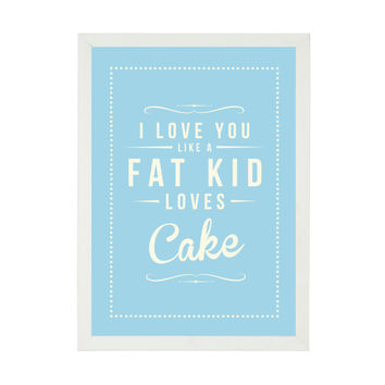 Retro Inspirational Quote Giclee Art Print - Vintage Typography Art - Customize - Fat Kid Loves Cake UK