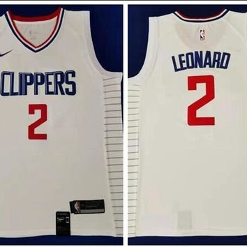 Nike Los Angeles Clippers #2 Kawhi Leonard Jersey White