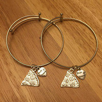Pizza Slice Best Friend Charm Bangle