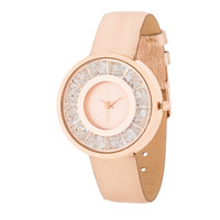Geneva Rose Gold Floating Crystal Watch