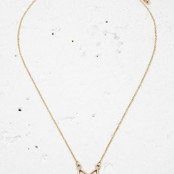 Cutout Chevron Charm Necklace