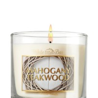 Mahogany Teakwood 4 oz. Small Candle   - Slatkin & Co. - Bath & Body Works